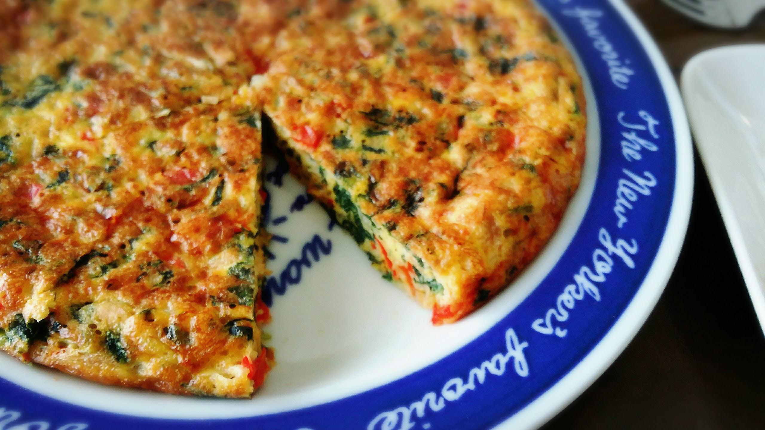 【ツナとほうれん草のスパニッシュオムレツ】つくおきレシピ