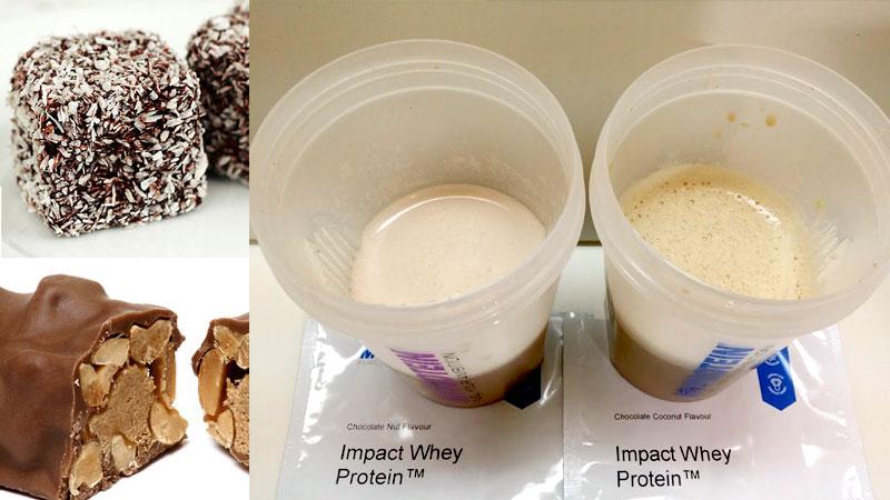 マイプロテイン【チョコレートココナッツ味・チョコレートナッツ味】を比べてみました